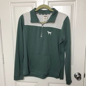 VS Pink Green and White Pullover
